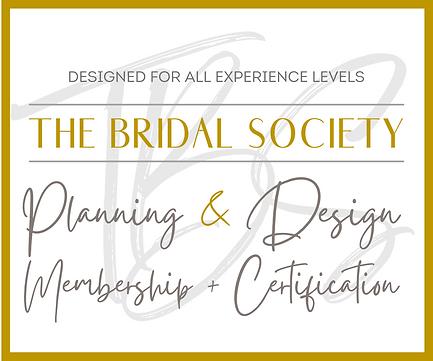 The Bridal Society Wedding Planning Certification Membership