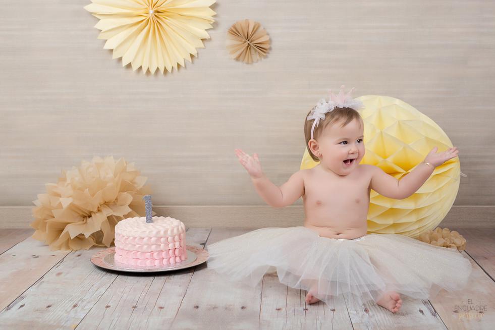 Reportaje Cumpleaños Smash The Cake - Paula, 1 añito