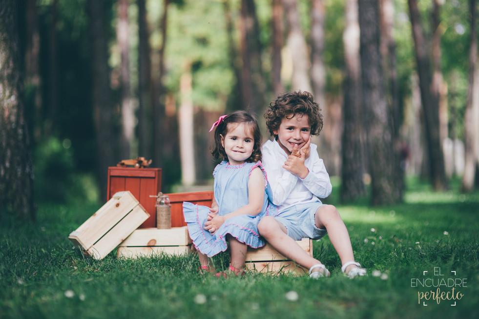 Reportaje Fotos Infantil Burgos - Lucia e Ivan