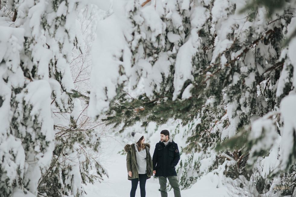 Reportaje Fotos Preboda Segovia, en la nieve - Maria y Jose