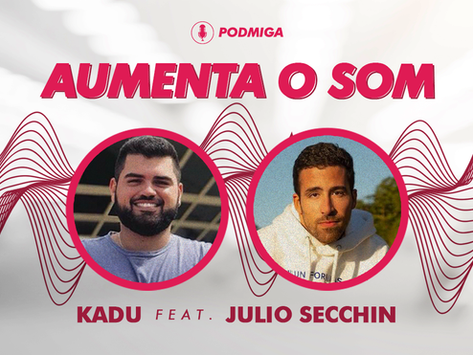 "AUMENTA O SOM! Julio Secchin cita genialidade de Márcio Victor ao contar história do feat ""Bambolê"""