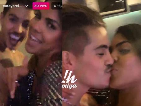 Tays Reis faz festa com Biel e registra primeiro beijo fora de A Fazenda 12