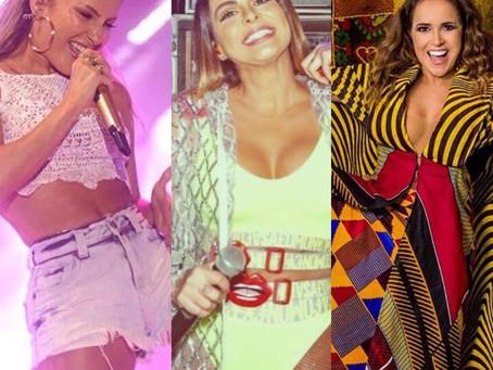 Alinne Rosa, Claudia Leitte e Daniela Mercury estão em lista do Carnaval de São Paulo