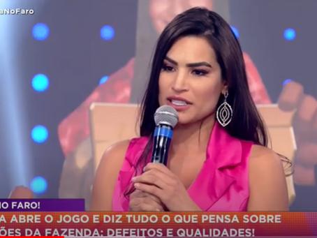 Raissa Barbosa eleva audiência da Hora do Faro e critica Biel; assista