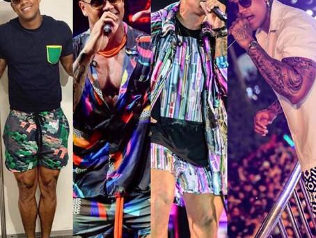 Raio-X dos Looks: Shorts e camiseta são aposta de Léo Santana nos ensaios de verão