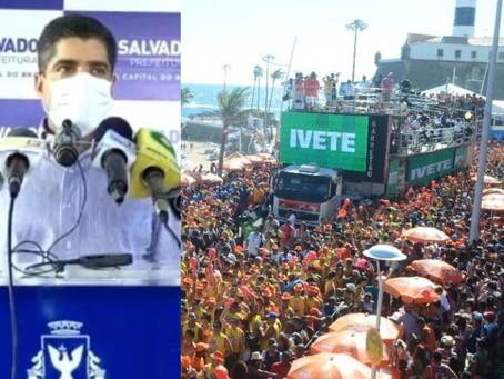 ACM Neto afirma que Carnaval de Salvador está suspenso em 2021 por causa do coronavírus