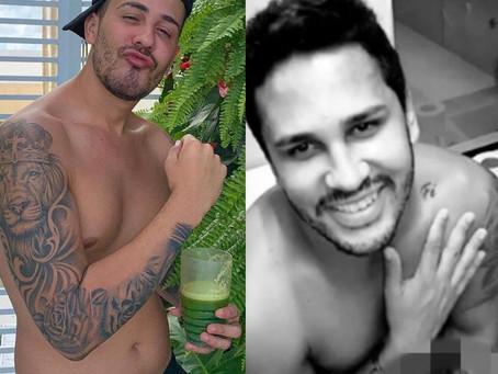 Carlinhos Maia se descuida e 'vaza' nude do marido Lucas Guimarães