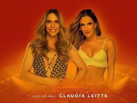 AUGE: Ivete divulga Claudia Leitte como atração do seu novo DVD