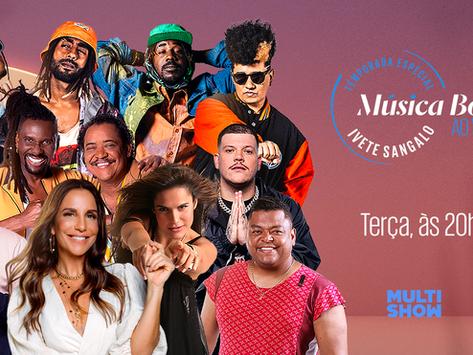 """Ara Ketu, É O Tchan, Ferrugem e Olodum são os convidados do """"Música Boa Ao Vivo"""""""