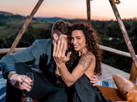 Breno Simões pede Paula Amorim em casamento após preparação de 45 dias