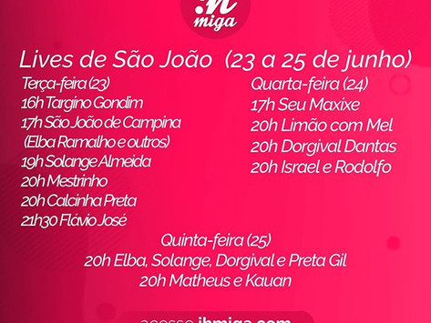 Lives de São João: Elba Ramalho, Solange Almeida e Calcinha Preta são os destaques; veja lista