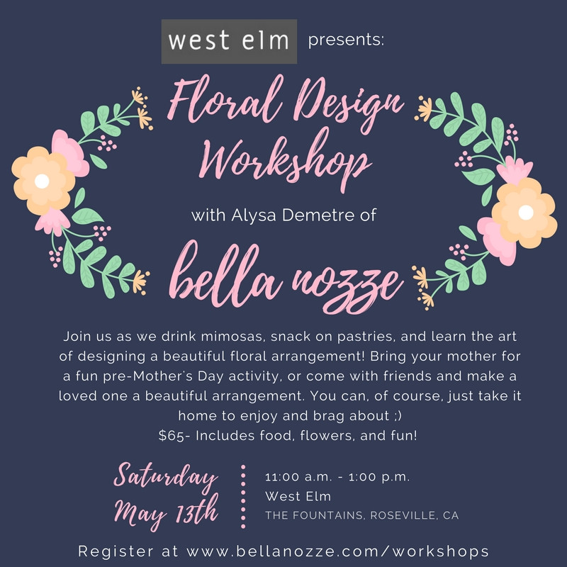 west elm and bella nozze invite
