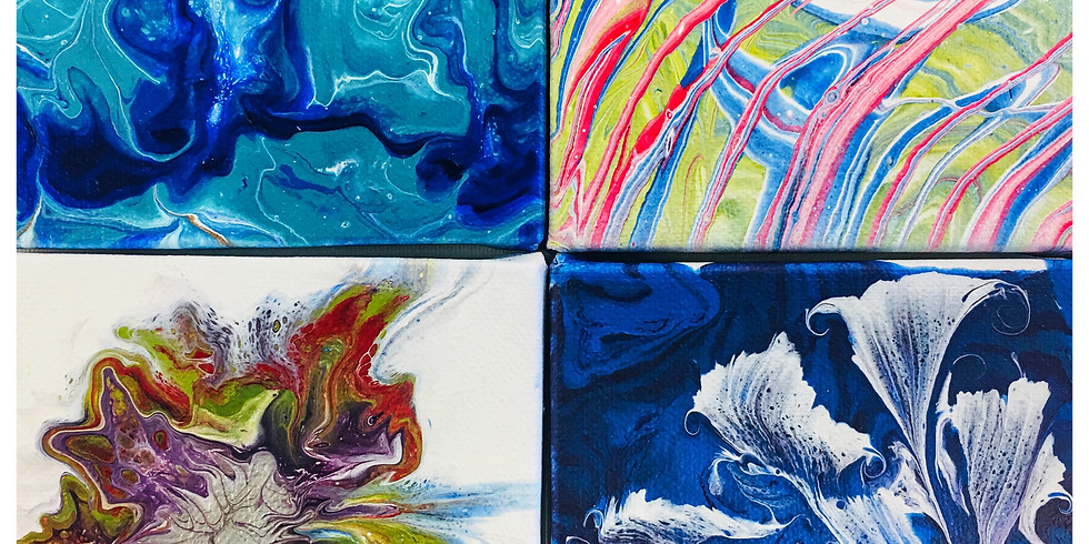 Abstract Art with Paint Pouring Part1