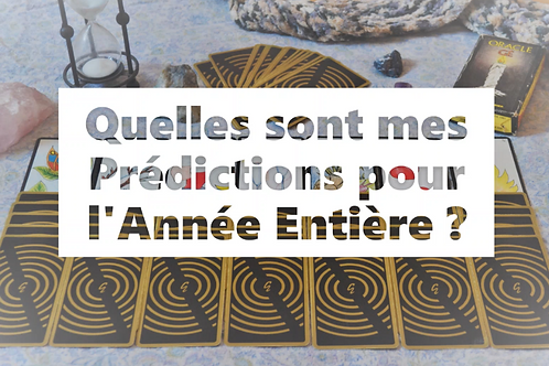 PREDICTION pour 1 AN - Oracle Gé