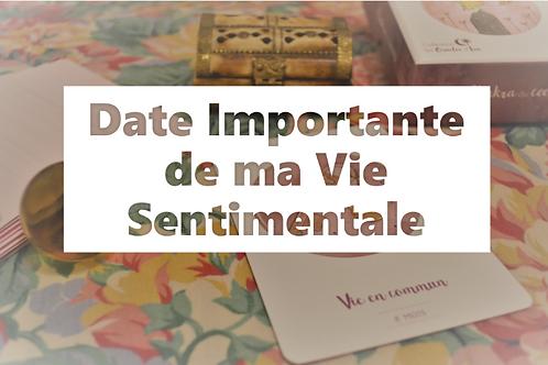 DATE IMPORTANTE Vie Sentimentale - Oracle Mission de Vie
