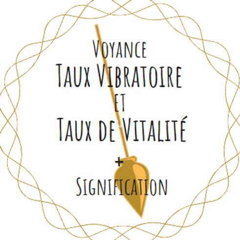 VOYANCE Taux VIBRATOIRE et VITALITÉ - Pendule