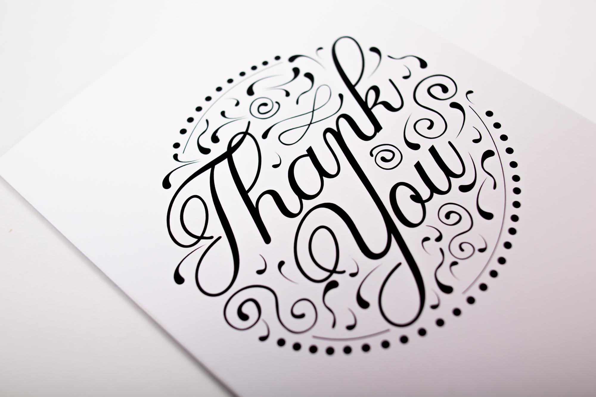 Decorative thank you card design