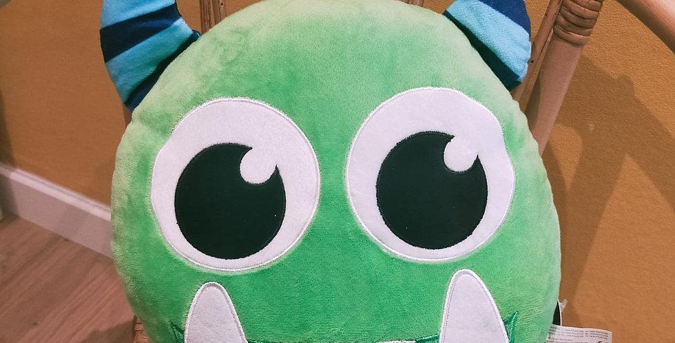 """Coussin """"monstre vert"""""""