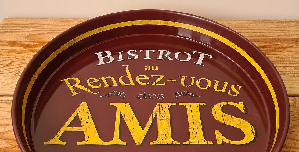 """plateau rond """" Rdv des amis"""""""