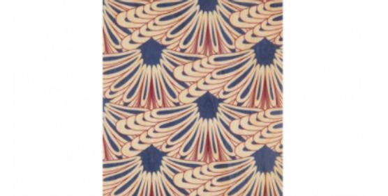 Carte motif bordeau-bleu