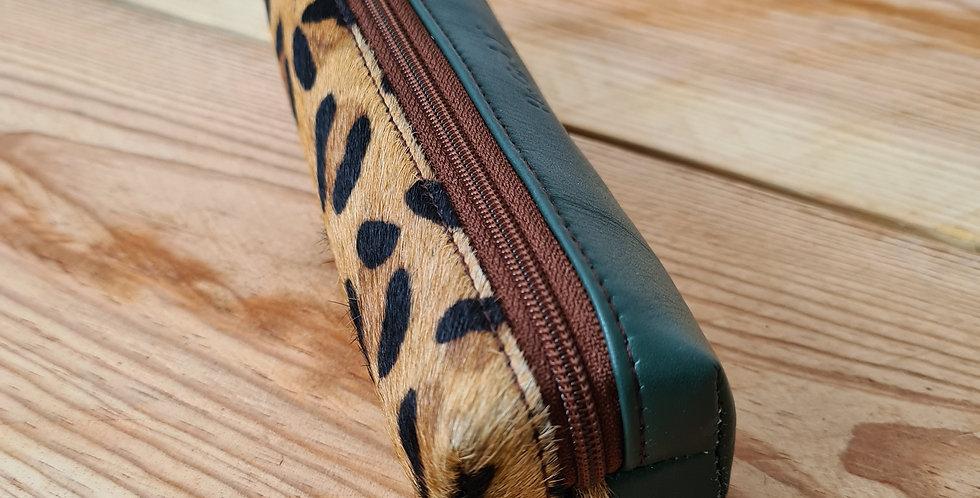trousse vert/leopard