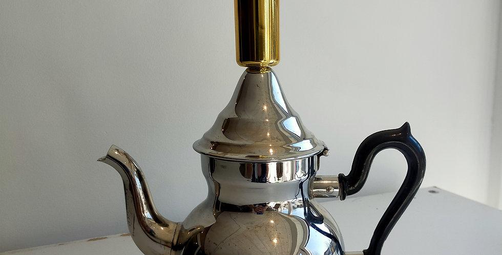 """Lampe """"théière inox"""""""