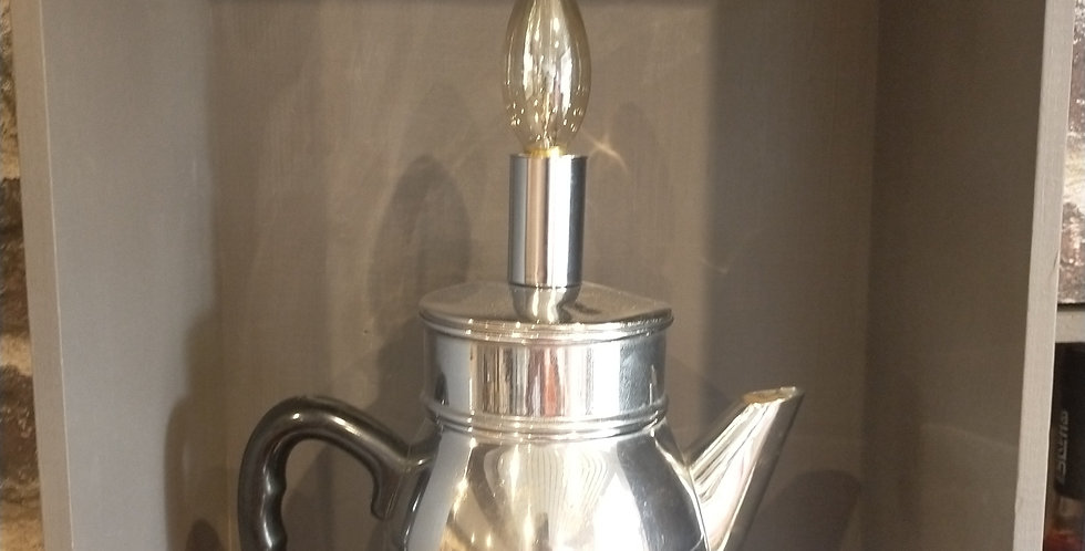 "Lampe ""cafetière inox"""