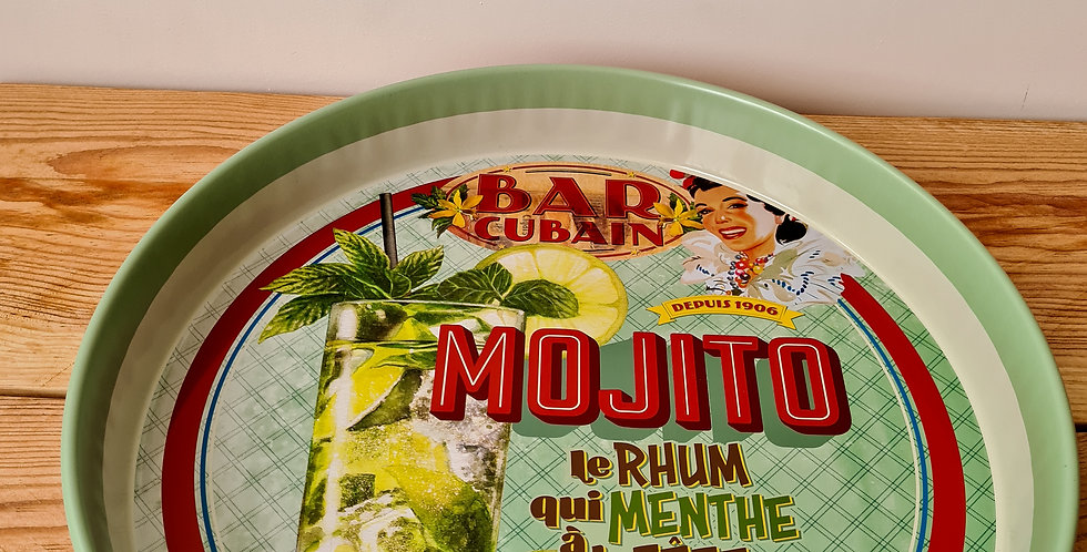 "plateau rond ""Mojito"""