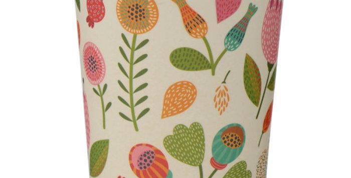 """Boite bambou """" fleurs"""""""