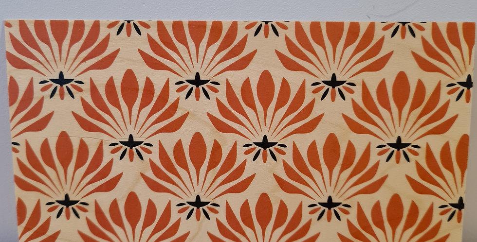 Carte motif orange