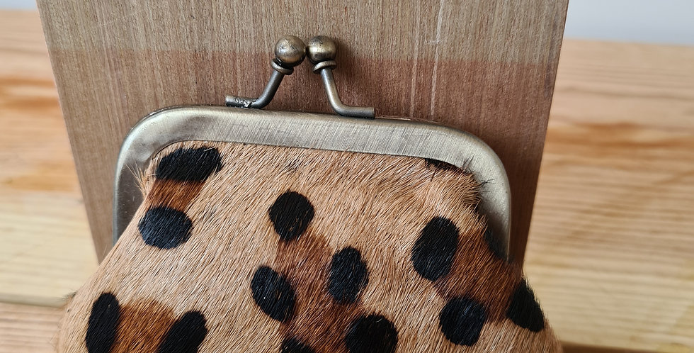 porte monnaie clip léopard