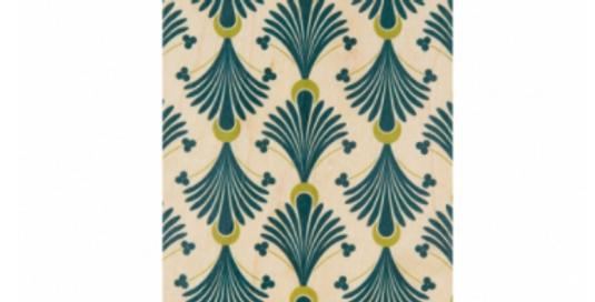 Carte motif turquoise-vert