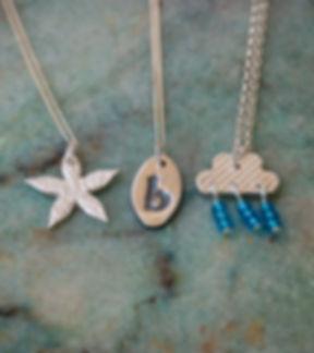 Silver clay pendants