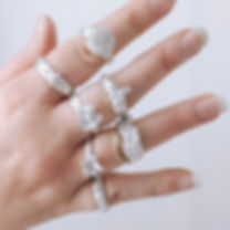 Rings made by students at Jewellery Scho