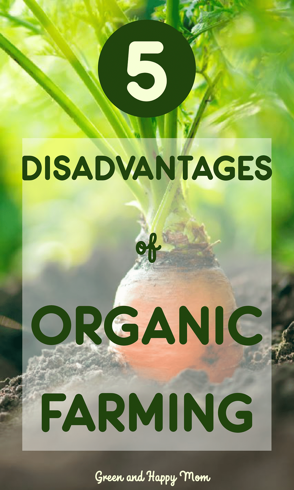 disadvantages of organic farming