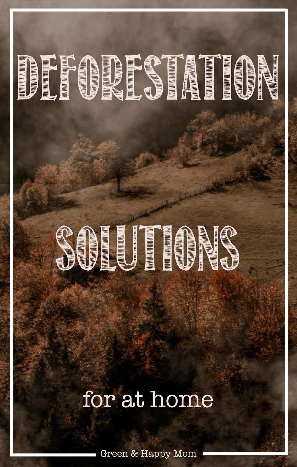 Deforestation solutions