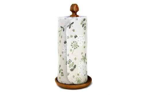 Unpaper towels - Green & White Flowers