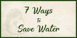 7 ways to save water