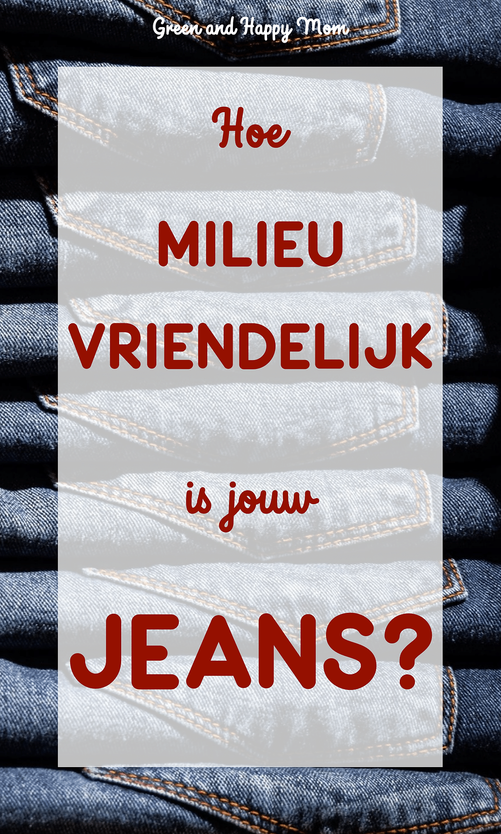 Duurzame Jeans