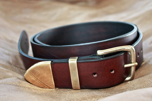Western Classic leather guitar strap