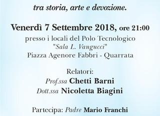 """CONFERENZA E MOSTRA La Chiesa di Santa Maria Assunta: nel segno della """"Cintura"""" tra storia"""