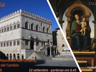 Perugia:Galleria Nazionale dell'Umbria,  Collegio del Cambio e tour città