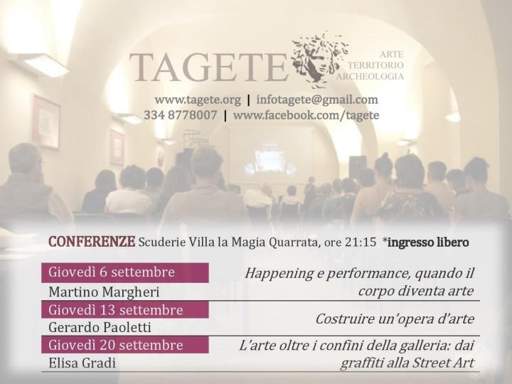 L'ARTE ALLA PROVA DELLA CONTEMPORANEITA', DALL' INFORMALE   ALLA   BODY ART E OLTRE...ciclo di conferenze a Villa la Magia. Settembre 2018