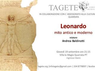 Leonardo: mito antico e moderno