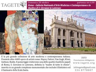 Roma - Galleria Nazionale d'Arte Moderna e Contemporanea e la Basilica di S. Giovanni in Lateran