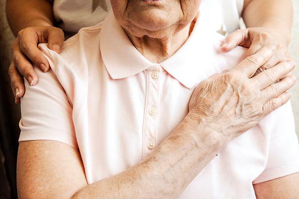 Mature female in elderly care facility g
