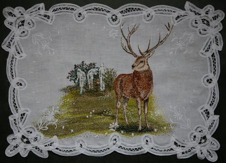 borduurwerk op vintage textiel