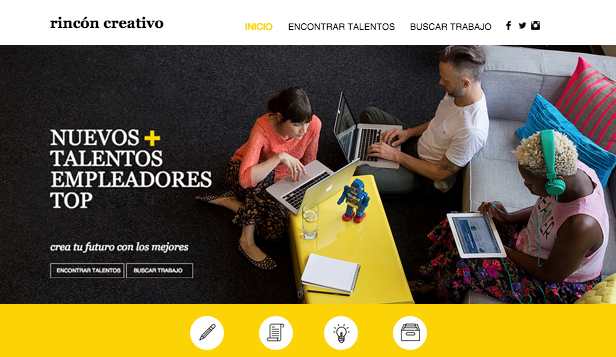 Comunicación y Marketing plantillas web – Agencia de contratación creativa