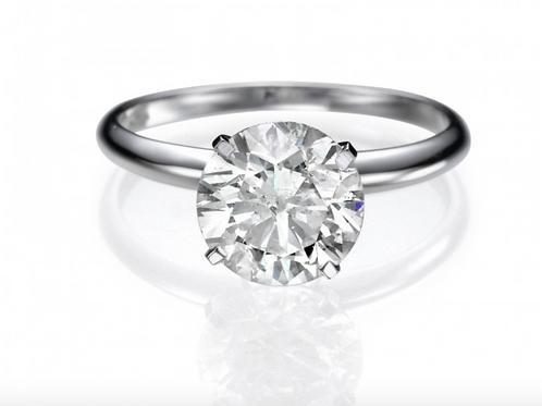 0.50 ct Round Cut Diamond Ring