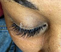 Beautiful natural looking eyelash extensions
